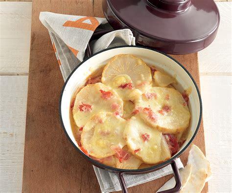 ricette con sedano rapa cotto ricetta tegame di sedano rapa fontina e prosciutto la