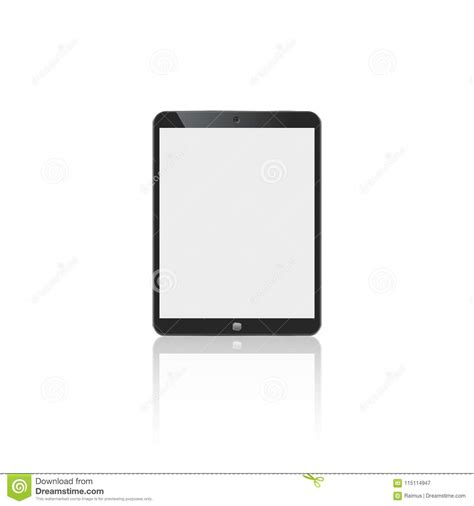 tablet  ipad style black color  blank touch screen