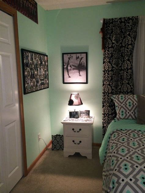 Repurposed L And Bulletin Board Mint Grey Black And Mint And Grey Bedroom