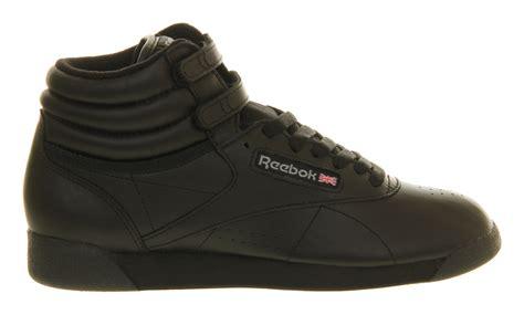 Reebok Free Style High Black reebok freestyle hi in black lyst