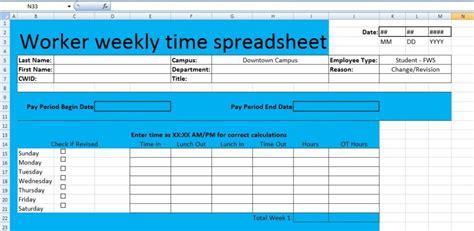 xl spreadsheet templates worker weekly time spreadsheet template xls
