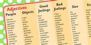 adjective word mat adjective word mat mat writing aid