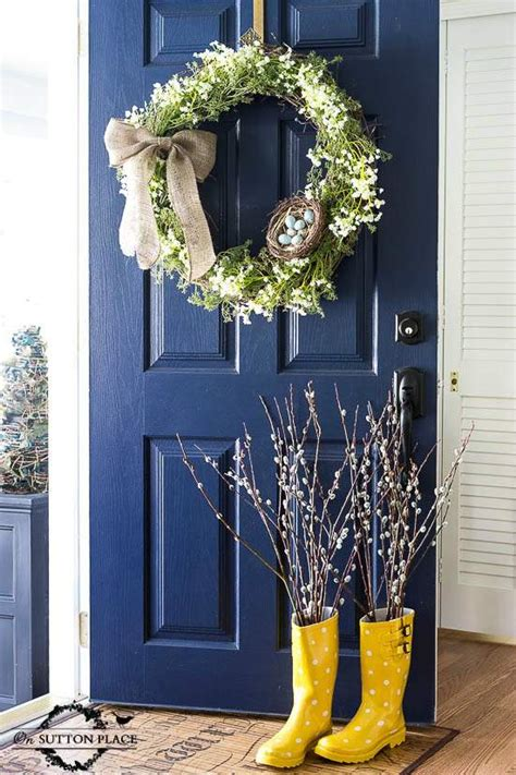 spring decorating ideas for your front door top 50 diy spring wreaths i heart nap time