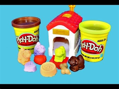 puppy play doh pooping poo toys play doh puppies walking pooping play doh