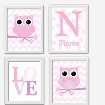 owl baby nursery wall pink from