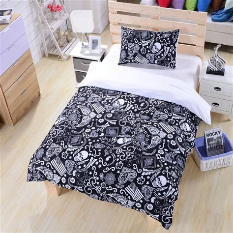 Bed Cover Set America Uk 120x200 black and white bedding paisley american flag bedding