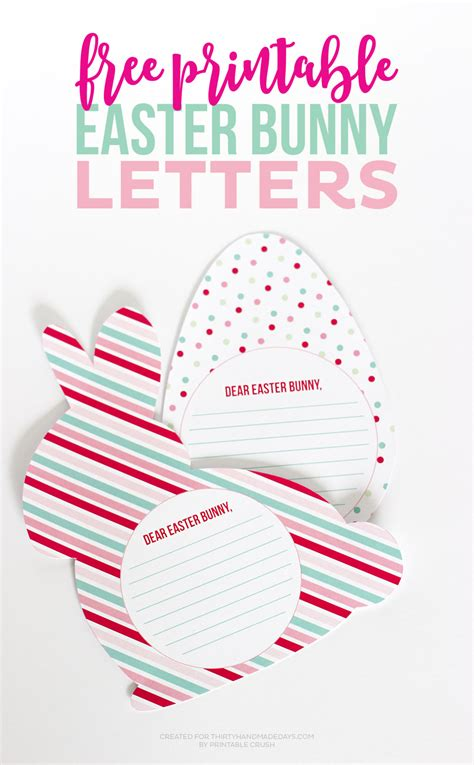 free printable letters easter bunny free printable easter bunny letters thirty handmade days