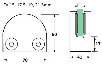 Boom Claps 21 5mm d shaped glass cl with flat base for 15 0 21 5mm glass kerolhardware co uk