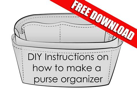 tote bag organizer insert pattern easy instructions on how to make your own purse organizer