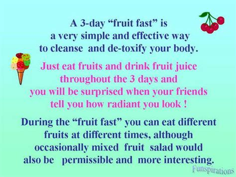 fruit 3 day fast fruits the correct way mails and forwards