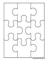 puzzle cut out template best photos of create puzzle pieces template 6