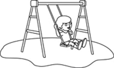 swing black and white free black and white children outline clipart clip art