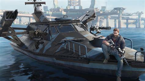 boats just cause 3 just cause 3 bavarium sea heist dlc developer chat egmnow
