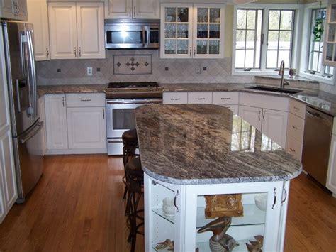 How To Pick A Kitchen Backsplash by Thunder White Granite Kitchen Countertops Design Ideas