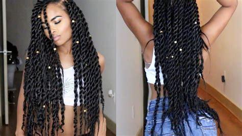 hair to use for jumbo twist senegalese havana jumbo twists natural hair tutorial