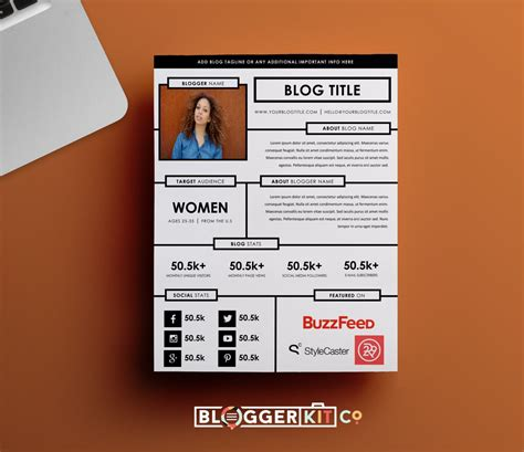 press kit template one page media kit template press kit template