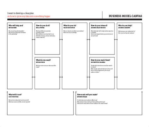 Business Plan Canvas Template Business Model Canvas Template Pictures To Pin On Pinterest