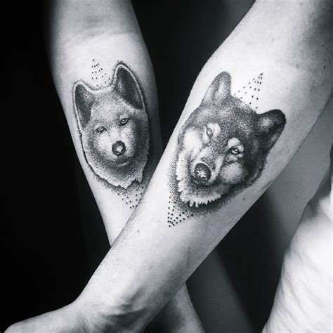 matching wolf tattoos 30 matching his and hers tattoos