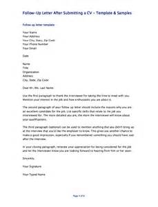 Cover Letter For Submitting Resume follow up letter after submitting a cv resumes design
