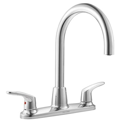 American Standard Faucet Kitchen American Standard Colony Pro 2 Handle Standard Kitchen Faucet In Polished Chrome 7074550 002