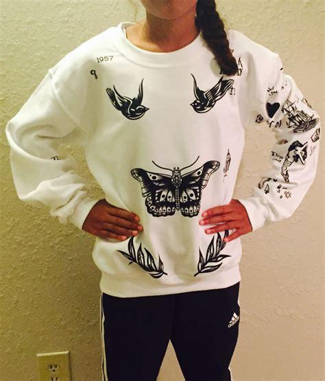 harry styles tattoo sweater amazon harry stile tatto sweatshirt