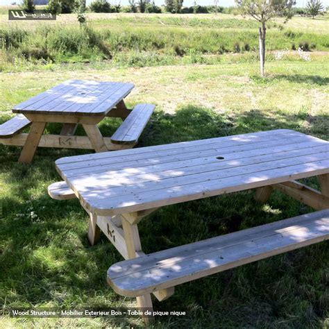 banc de picnic en bois table pique nique xl table de jardin wood structure