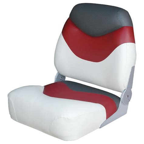 red fishing boat seats wise premium high back fishing boat seat 96436 fold