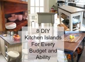 diy ideas for kitchen 8 diy kitchen islands for every budget and ability