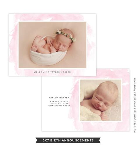 Jaket Nathan Baby Pink birth announcement baby nathan e902 my design catalog
