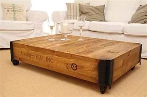 table basse coffre en bois table d appoint vintage style