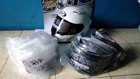 Harga Visor Clear Kyt R10 wujud helm kyt rc7 pakai flat visor r10 ganteng tenan