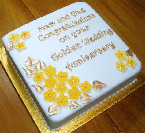 Golden Wedding Anniversary Cake (March 2014)   Carol's