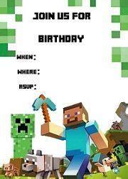 minecraft invitation template free minecraft birthday birthdays minecraft