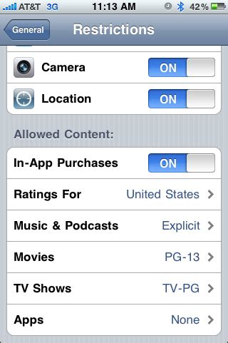 iphone parental controls 301 moved permanently