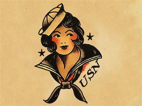 sailor jerry tattoo design american traditional school chief