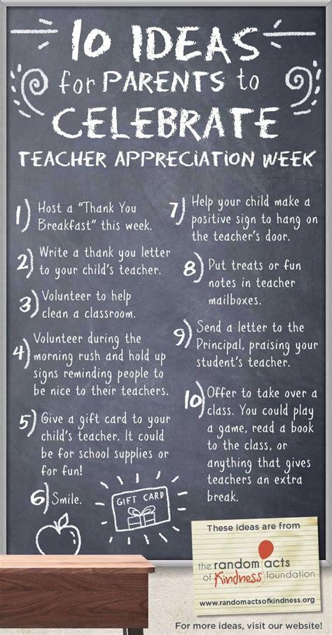 ideas  parents  celebrate teacher appreciation week kindness ideas pinterest