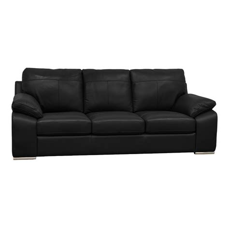 black leather sofas buy cheap 3 seater black leather sofa compare sofas