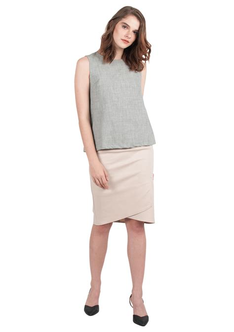 layered pencil skirt ellysage