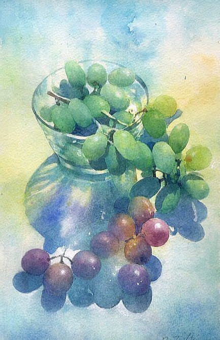 watercolor grapes tutorial grapes watercolor art watercolor pinterest