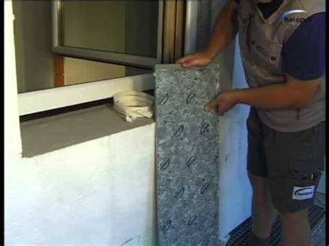 fensterbank innen stein einbauen montagevideo helopal aussenfensterbank mit 2k