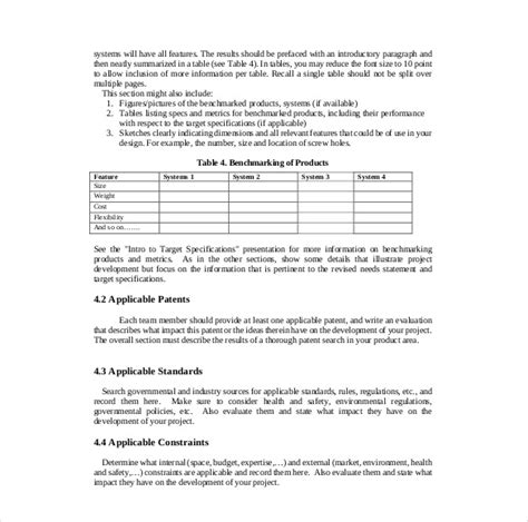 20 project report template free sle exle format