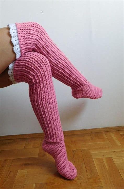high pattern socks over the knee socks crochet knee high socks crocheting