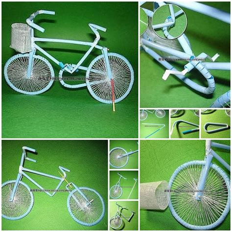 wonderful diy bicycle from straw
