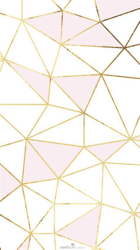 Diy Screen Print India pink gold white geometric mosaic iphone phone wallpaper