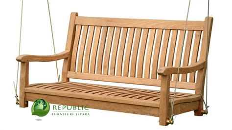swinging bench canopy swing bench without canopy republic furniture jepara indonesia