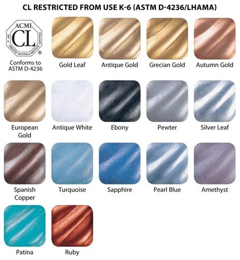 amaco rub n buff rub n buff color chart hod crafts diy