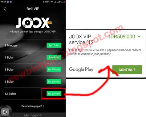 Daftar Jadi Member Dapat Harga Khusus cara menjadi vip member joox secara gratis