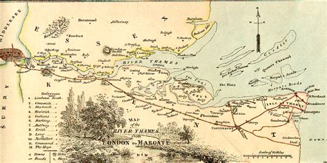battle of thames river map estuary where thames smooth waters glide
