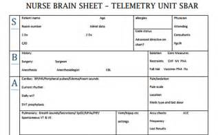 Nursing Brains Template by Brain Sheets Telemetry Unit Sbar Scrubs The