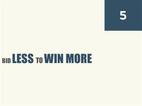 bid 2 win win more bids and more profitable business